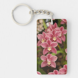 Llavero rosado de la orquídea