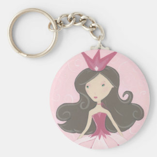 Llavero rosado de la princesa