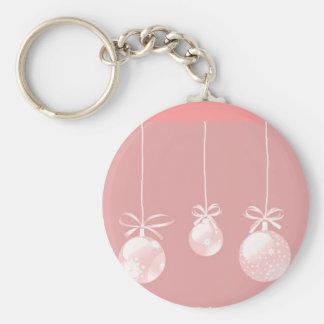 Llavero rosado de los ornamentos del navidad