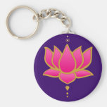 Llavero rosado de Lotus de la alheña
