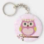 Llavero rosado de princesa Owl 02