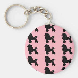 llavero rosado del botón de la falda del caniche