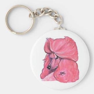 Llavero rosado del caniche