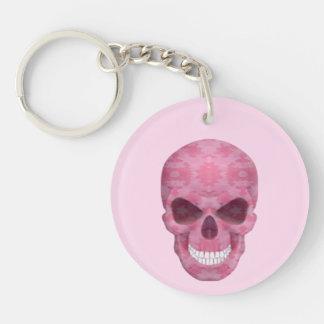 Llavero rosado del cráneo del camuflaje