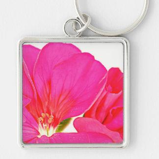 Llavero rosado del flor