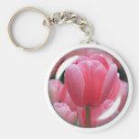 Llavero rosado del tulipán