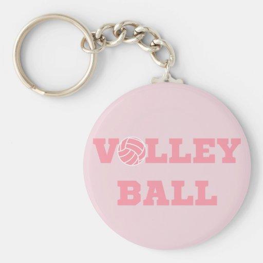 Llavero rosado del voleibol