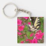 Llavero rosado floral de la fotografía de la natur