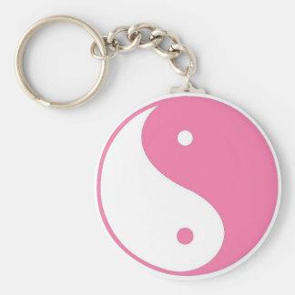 Llavero rosado lindo de Yin Yang