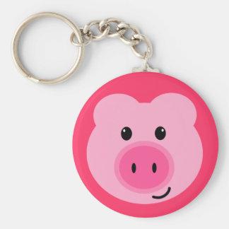 Llavero rosado lindo del cerdo
