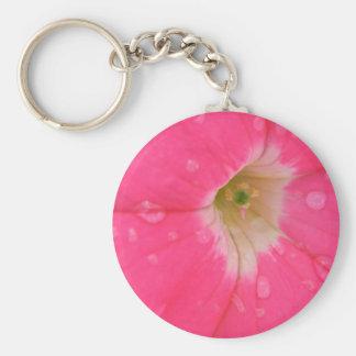 Llavero rosado rociado de la petunia