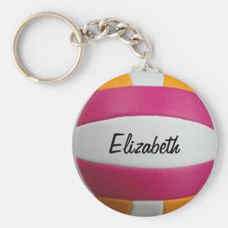 Llavero rosado y anaranjado adaptable del voleibol