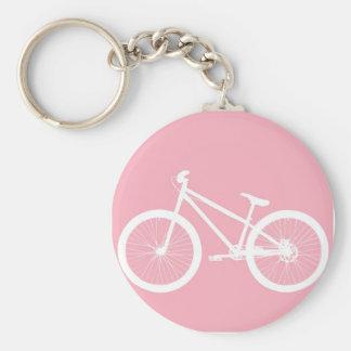 Llavero rosado y blanco de la bicicleta del vintag