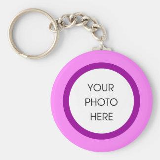 Llavero rosado y púrpura de la foto