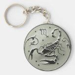 Llavero ruso de la moneda del zodiaco del escorpió