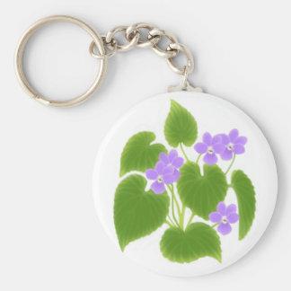 Llavero salvaje de las violetas
