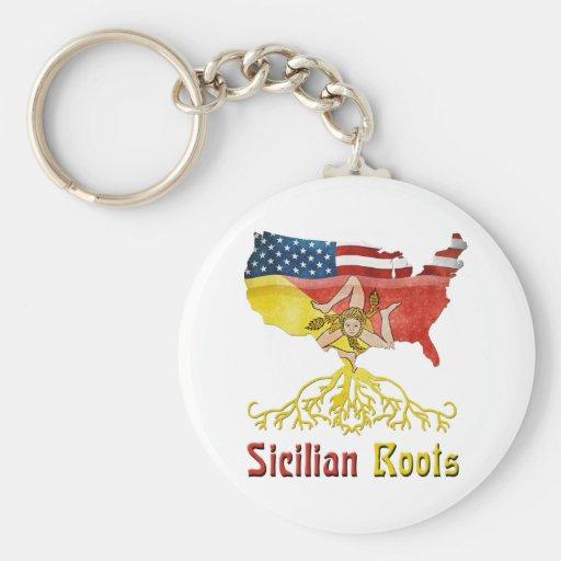 Llavero siciliano americano de las raíces