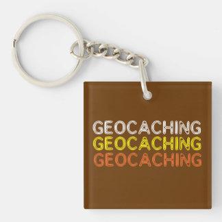 Llavero simple de la fraseología de Geocaching