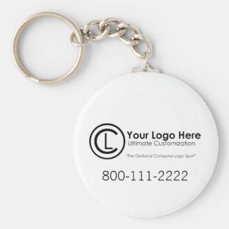 Llavero simple y de encargo de su logotipo aquí de