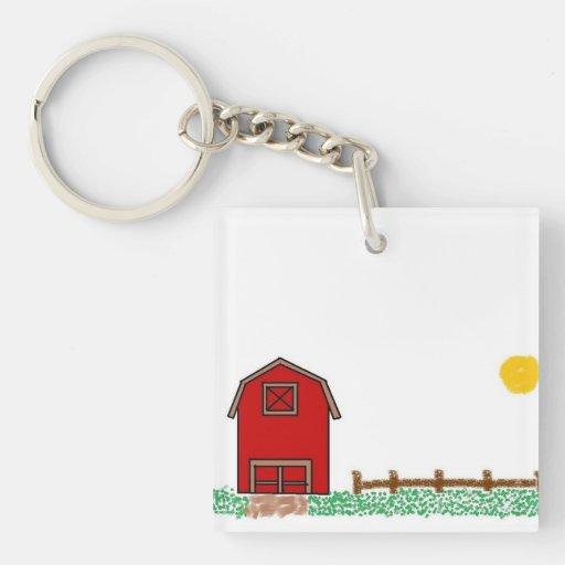 Llavero soleado de la granja