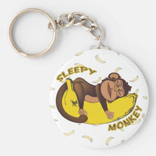 Llavero soñoliento del mono