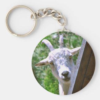 Llavero sonriente de la cabra