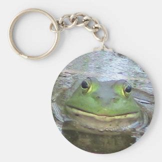 Llavero sonriente de la rana
