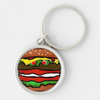 Llavero superior 2 de la hamburguesa divertida