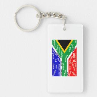 Llavero surafricano del argot - personalizable