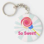 Llavero tan dulce del Lollipop del remolino