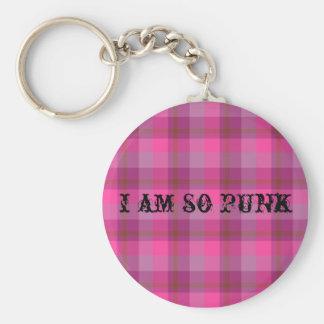 Llavero tan punky de la tela escocesa