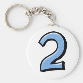 Llavero tonto del azul de los números 2