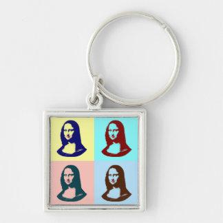Llavero transparente de Mona Lisa del arte pop