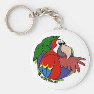 Llavero tropical del Macaw del escarlata