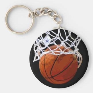 Llavero único de las ilustraciones del baloncesto