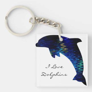 Llavero veneciano del acrílico del delfín de