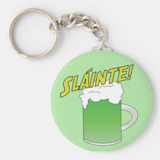 Llavero verde de la cerveza