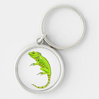 llavero verde de la iguana