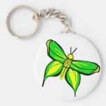 llavero verde de la mariposa del swallowtail