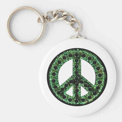 llavero verde de la paz
