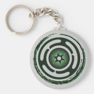Llavero (verde) de la rueda de Hecate
