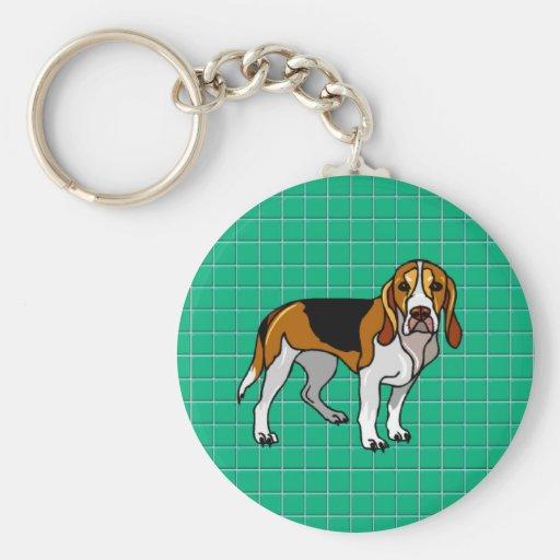 Llavero verde del beagle