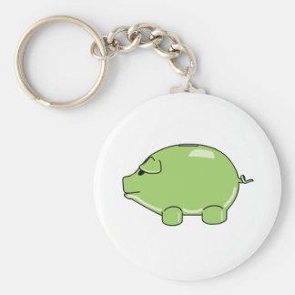 Llavero verde del cerdo