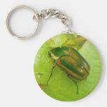 Llavero verde del escarabajo de junio