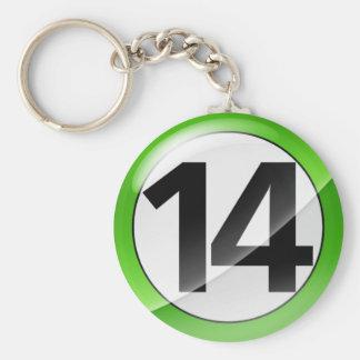 Llavero verde del número 14