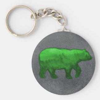 Llavero verde del oso