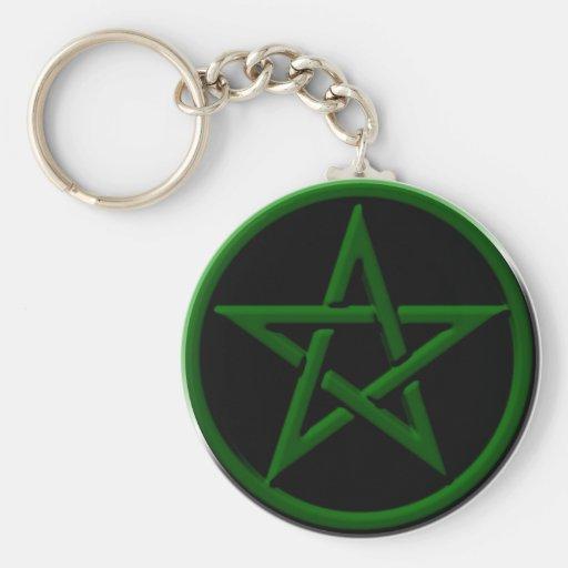 Llavero verde del Pentagram