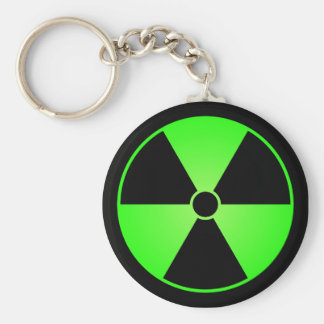 Llavero verde del símbolo de la radiación