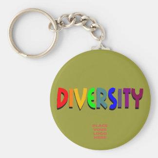Llavero verde militar de encargo de la diversidad