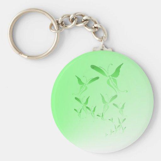 Llavero verde suave de la mariposa
